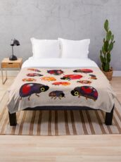 Lady beetles Throw Blanket