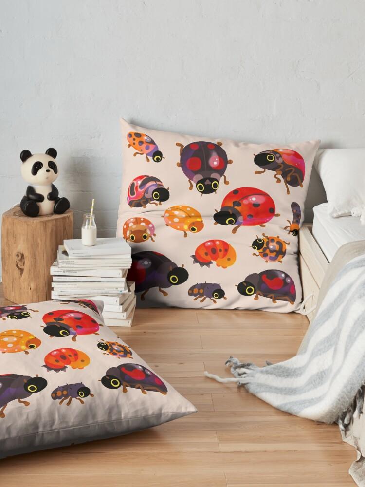 Alternate view of Lady beetles Floor Pillow