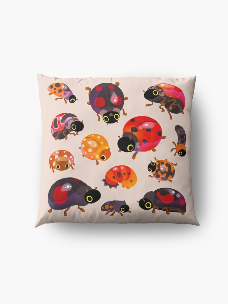 Alternate view of Lady beetles Floor Pillow