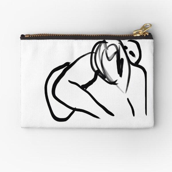 The Kiss -(010515)- Digital art: iPad/Zen Brush App Zipper Pouch
