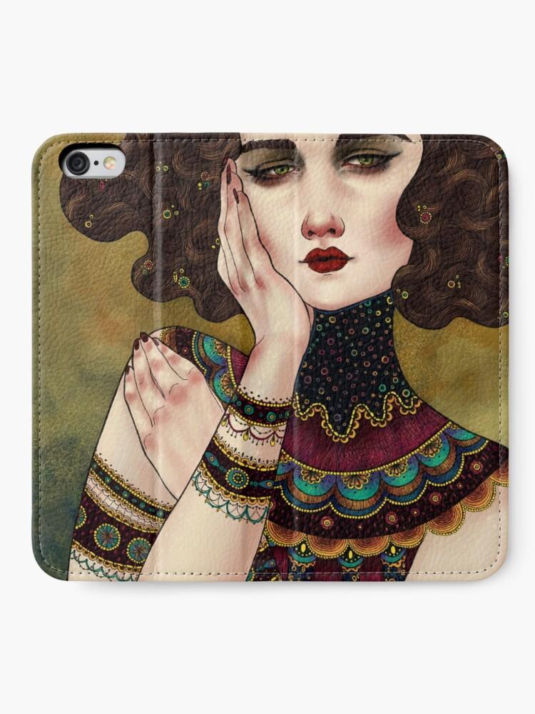 Alternate view of Klimt Muses 5 iPhone Wallet