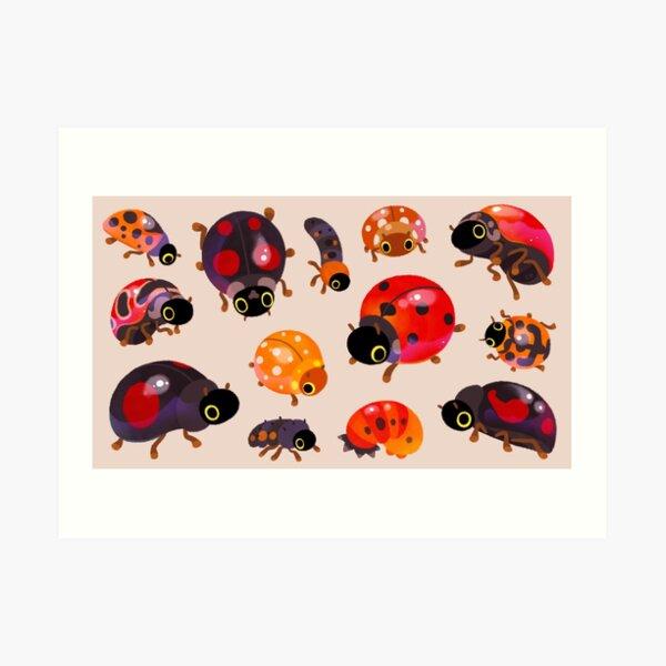 Lady beetles Art Print