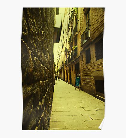 I dreamt about a narrow street where i could find you. You were not there. Instead i found myself. Poster