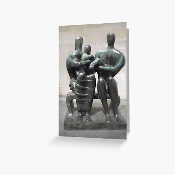 Henry Moore Sculpture -(230512)- digital photo Greeting Card