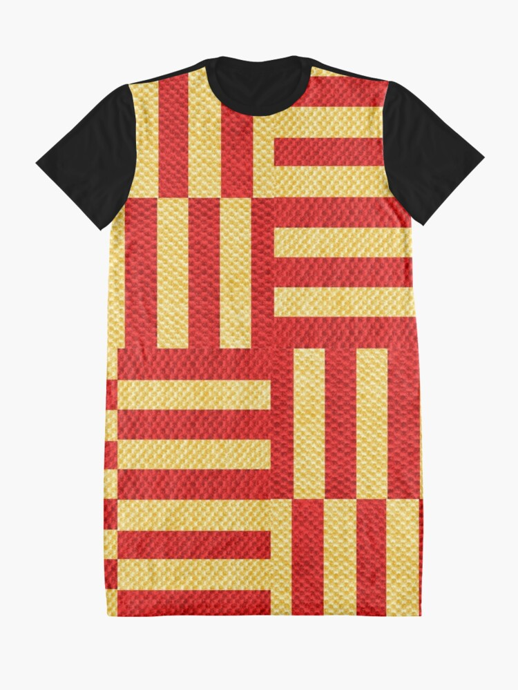 Alternate view of stripes pattern Graphic T-Shirt Dress