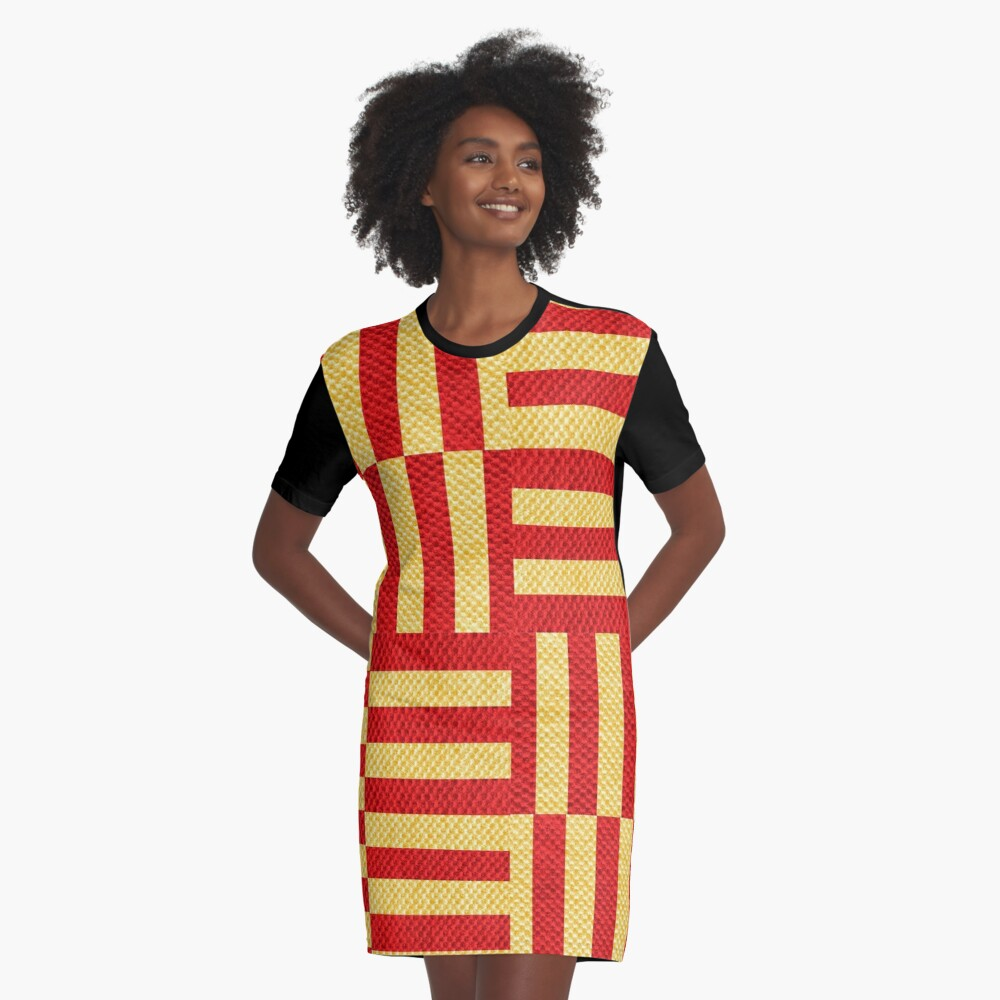 stripes pattern Graphic T-Shirt Dress