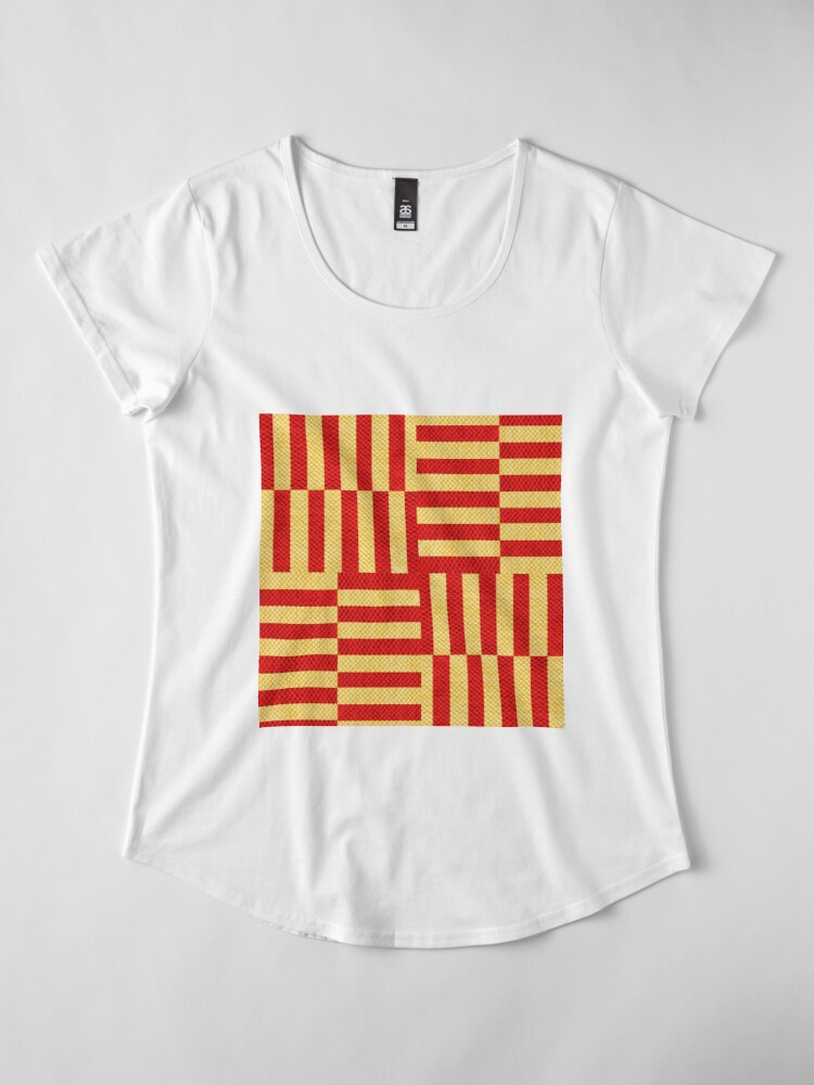 Alternate view of stripes pattern Premium Scoop T-Shirt