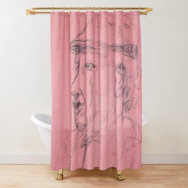 Picasso sketch -(130313)- Black biro pen/A4 sketchpad Shower Curtain