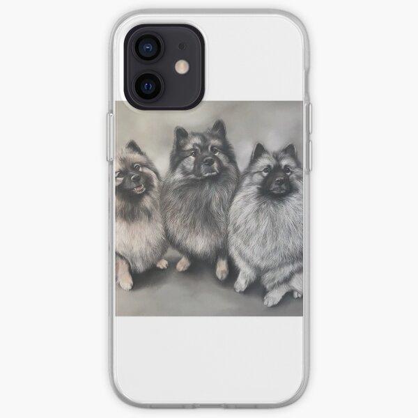 Keeshond trio iPhone Soft Case