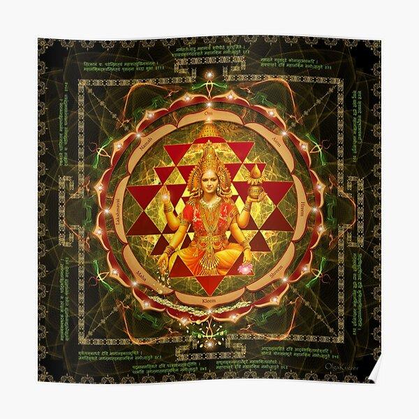 Shri Yantra- Maha Lakshmi Ashtakam- Abundance Poster
