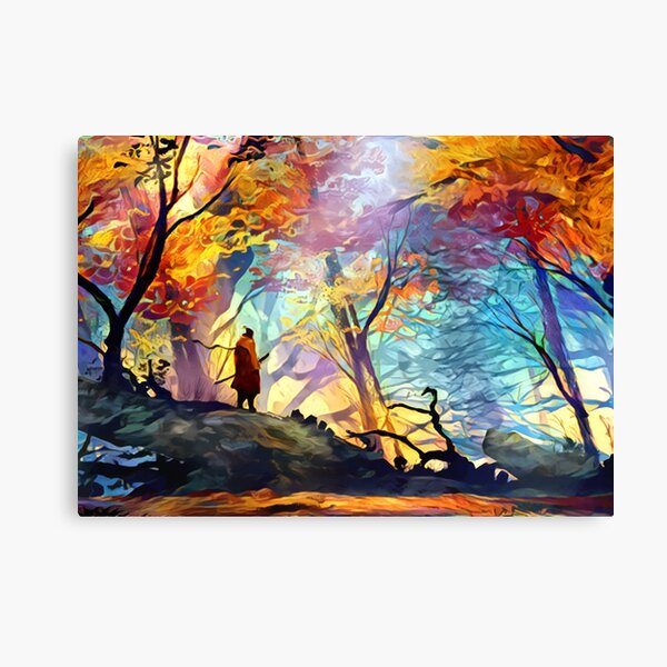 A Wolf in the Colorful Forest Canvas Print