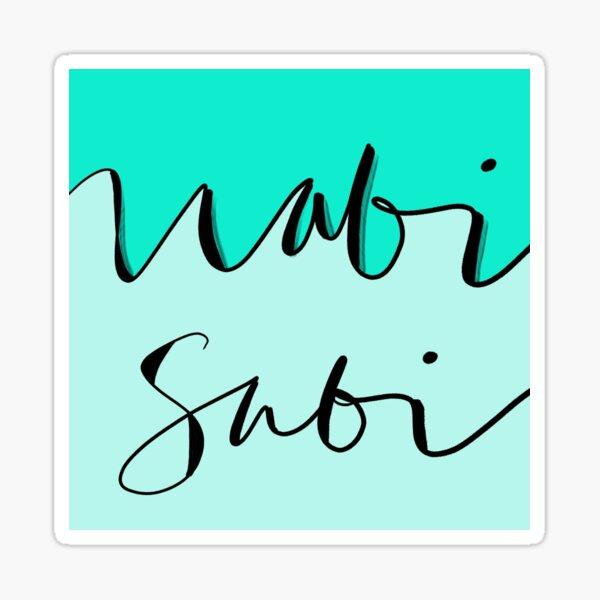 mindful: wabi sabi Sticker