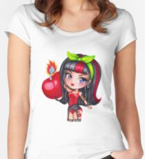Cherry Bomb Sizzle Women's Fitted Scoop T-Shirt