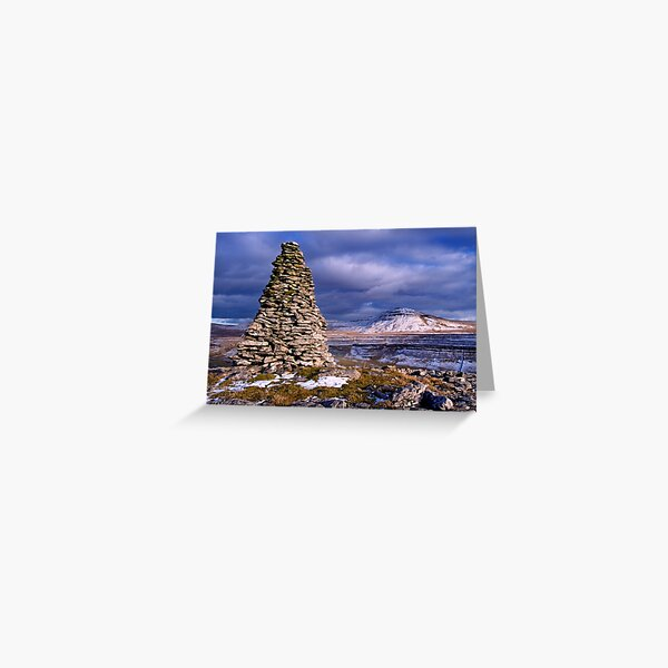 Ingleborough from Twisleton Scars - The Yorkshire Dales Greeting Card
