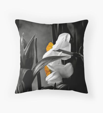 Just a bit of yellow Throw Pillow