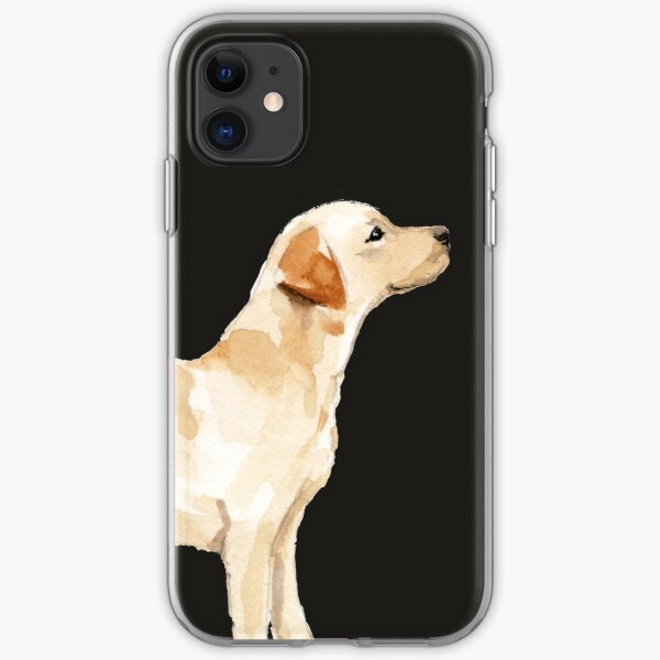 Yellow Lab Silhouette Watercolor iPhone Soft Case