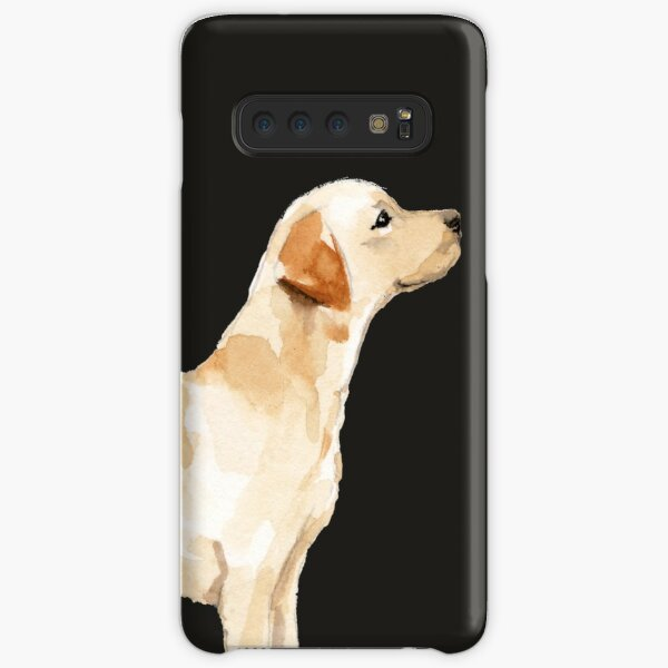 Yellow Lab Silhouette Watercolor Samsung Galaxy Snap Case