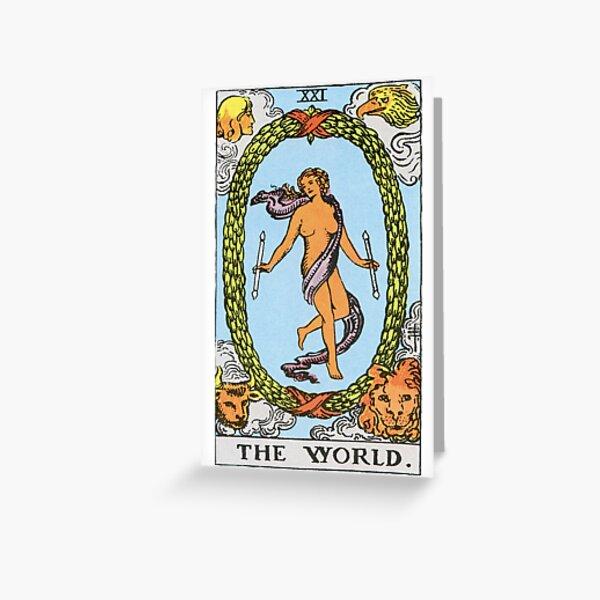 RWS The World Tarot Image Greeting Card
