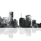 Skyline von Miami, Florida - Schwarz und Weiß von Marlene Watson