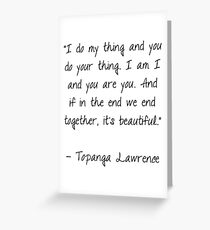 Boy Meets World Quote Greeting Card