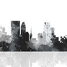 Minneapolis, Minnesota Skyline - schwarz und weiß von Marlene Watson