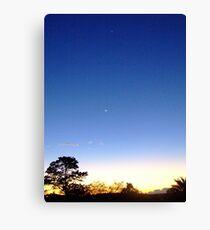 Blue Sky At night Canvas Print