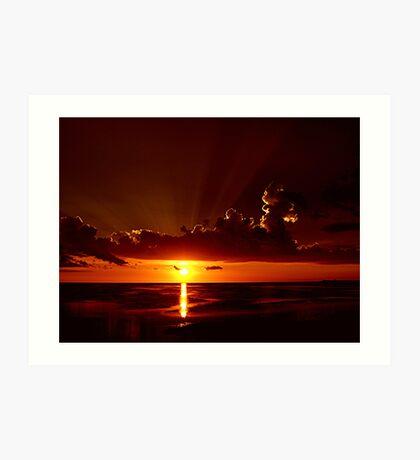 Keaton Beach Sundown Art Print