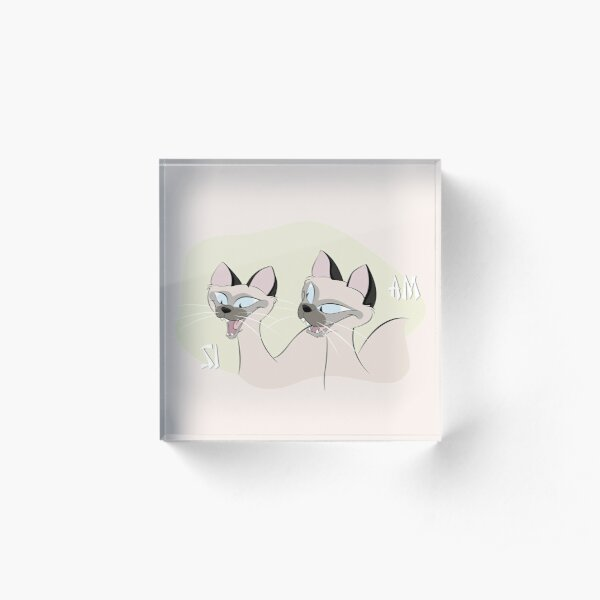 We Are Siamese, If You Please Acrylic Block