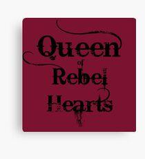 Queen of Rebel Hearts Canvas Print