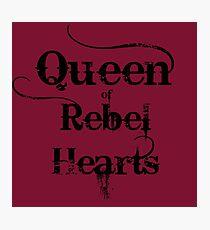 Queen of Rebel Hearts Photographic Print