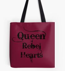 Queen of Rebel Hearts Tote Bag