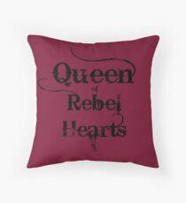 Queen of Rebel Hearts Throw Pillow