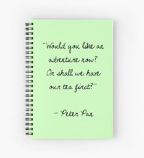 Peter Pan Quote Spiral Notebook