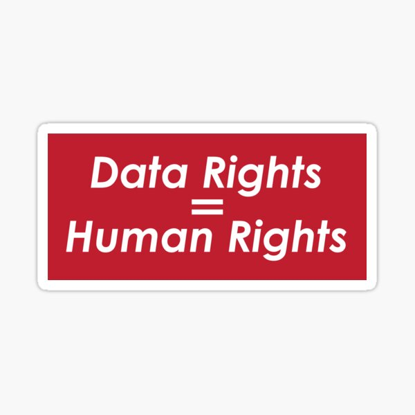 Custom Data Rights Graphic Sticker