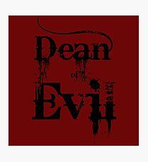 Dean of Evil Photographic Print