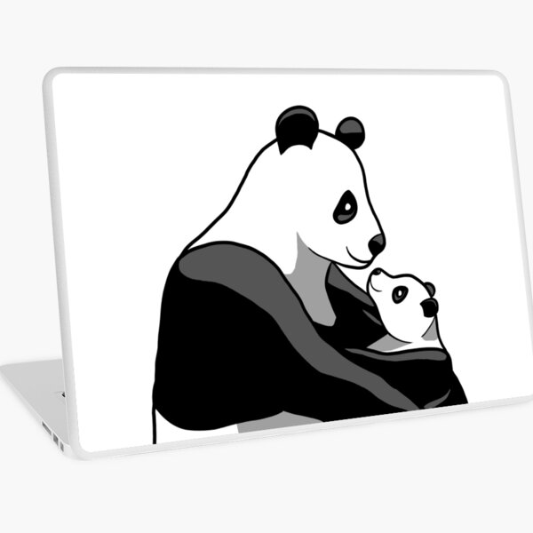 Panda Parent and Child 1 Laptop Skin