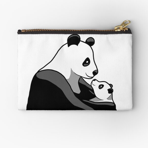 Panda Parent and Child 1 Zipper Pouch