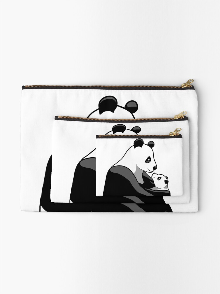Alternate view of Panda Parent and Child 1 Zipper Pouch