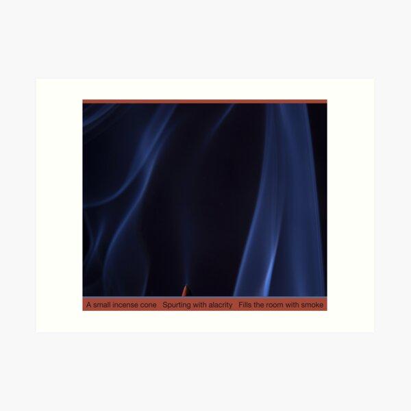 Smoky Blues Ruffles Art Print