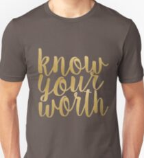 Know Your Worth Gold T-Shirt
