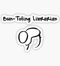 Bun-Toting Librarian Sticker