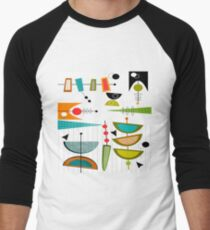 Mid-century Modern Abstract #55 Men's Baseball ¾ T-Shirt