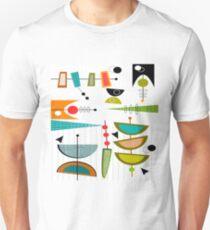 Mid-Century Moderne Zusammenfassung # 55 Slim Fit T-Shirt