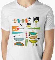 Mid-century Modern Abstract #55 V-Neck T-Shirt