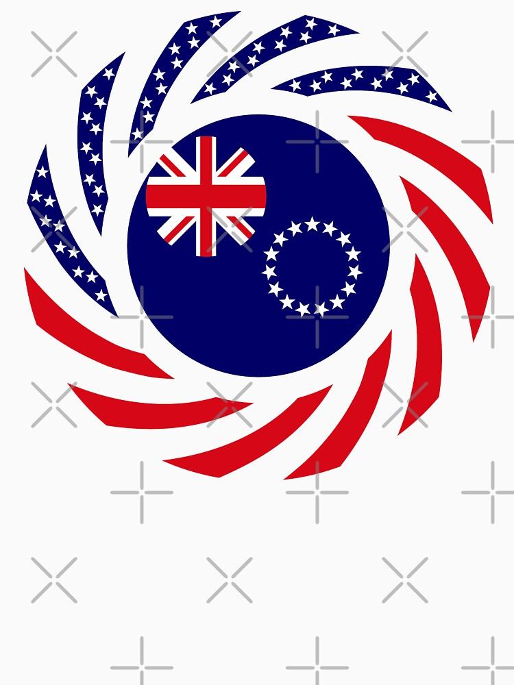 Cook Islander American Multinational Patriot Flag Series by carbonfibreme