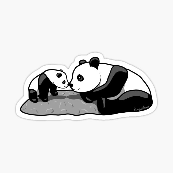 Panda Parent and Child 2 Sticker