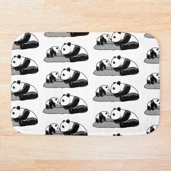 Panda Parent and Child 2 Bath Mat