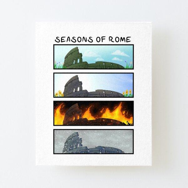 Saisons de Rome Impression montée sur toile
