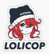 Supreme Lolicop (Cinnabar / Red) Transparent Sticker