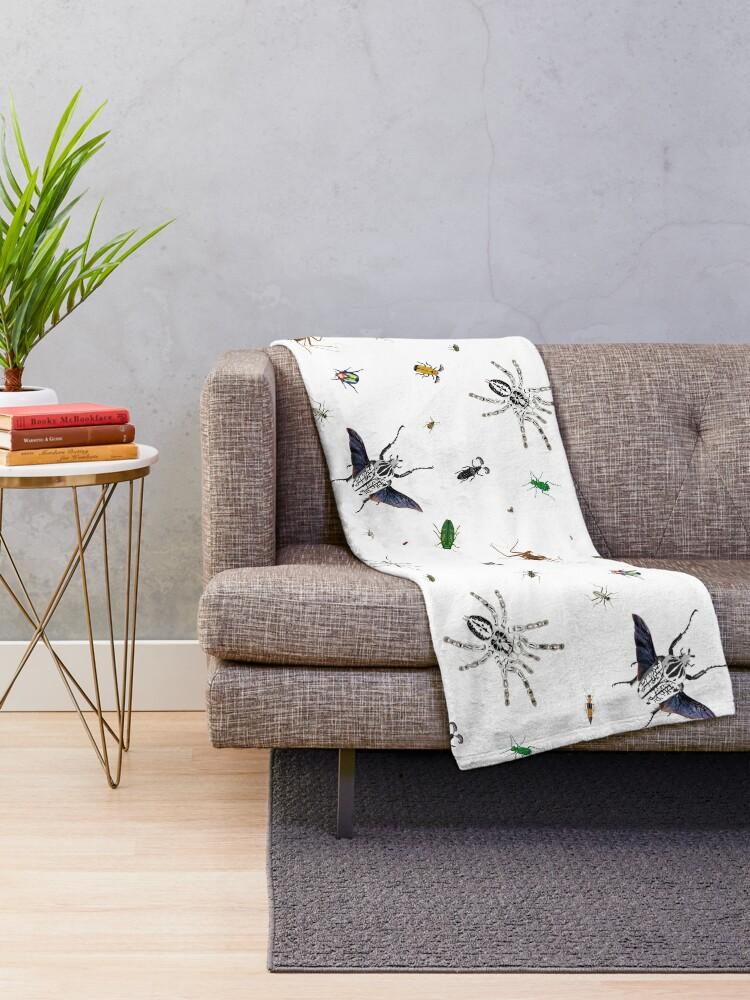 Alternate view of Entomologist's Dream Throw Blanket